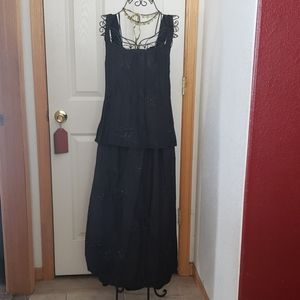 Krista Larson GORGEOUS sequin  top & skirt